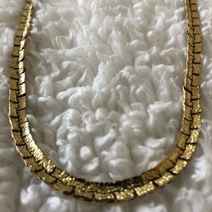 Gold choker - 18 inches long